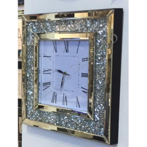 Crushed Diamond Square Clock