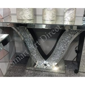 Crushed Diamond 'V' Console Table