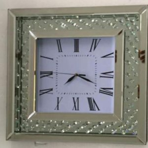 Square Floating Crystal Clock