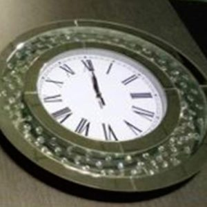 Round Floating Crystal Clock