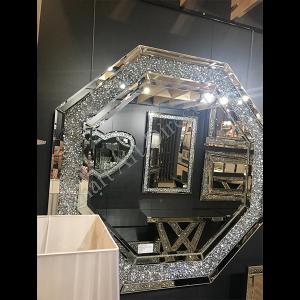 Crushed Diamond Hex Mirror
