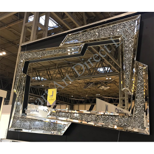 Crushed Diamond Offset Mirror