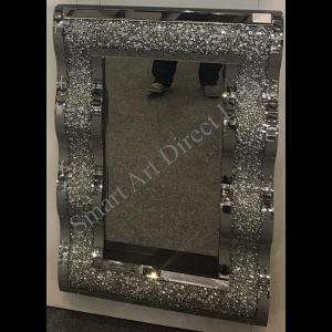 Crushed Diamond Wave Mirror