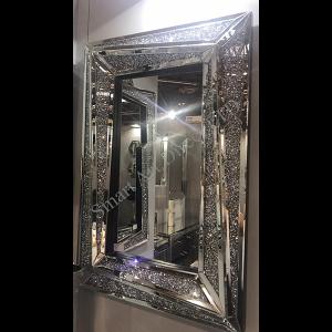 Crushed Diamond Split Mirror