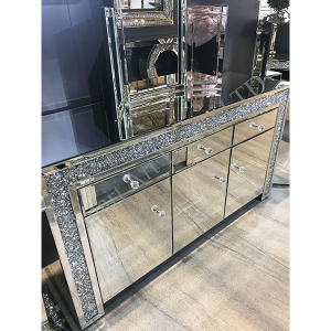 Crushed Diamond 3 Door 3 Drawer Sideboard