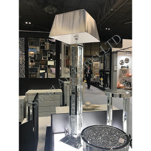 3 Bar Floor Lamp with Deluxe Shade