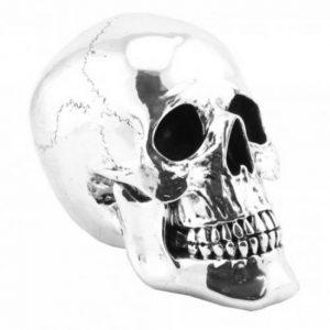Vintage - Ornamental Large Silver Skull