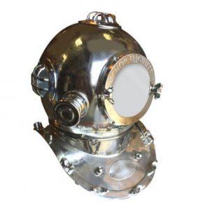 Vintage Silver Divers Helmet