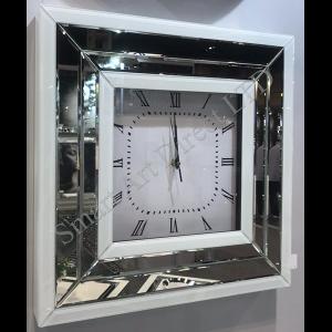 Bianco Square Clock
