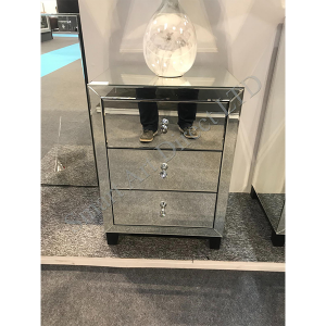 Mirror Glass Bedside Cabinet