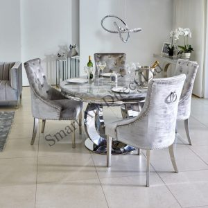 Blenhiem Grey Marble Dining Table