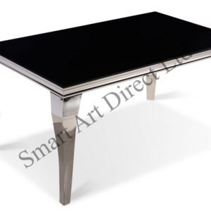 Buckingham Black Glass Dining Table
