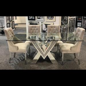 Crushed Diamond 'V' Dining Table