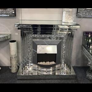 Crushed Diamond Fireplace