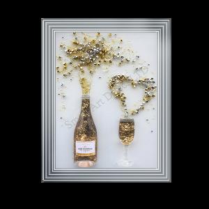 Champagne Bottle & Flute