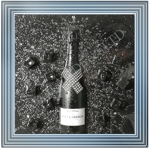Black Moet & Chandon Bottle