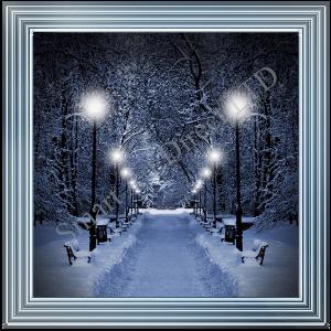 Blue Snowy Scene