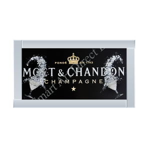 Black Moet & Chandon with Silver Glasses