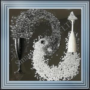 Black & White Champagne Flutes