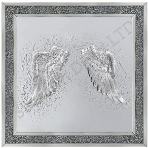 3D Wings on a Mirror Background