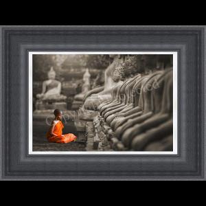 Young Buddhist Monk Praying Thailand